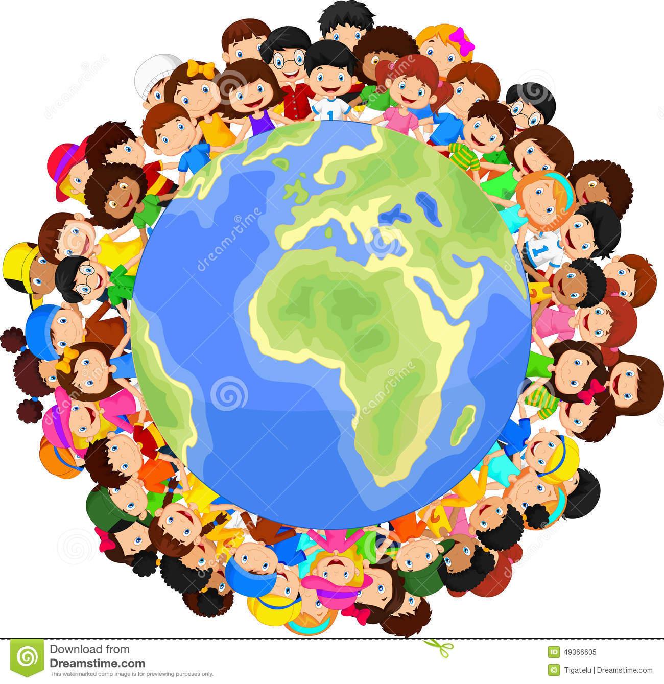 desenhos-animados-multiculturais-das-crianças-na-terra-do-planeta-49366605
